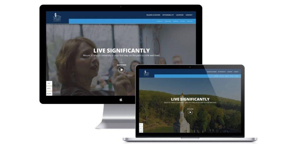 Mount Saint Mary's Website Design