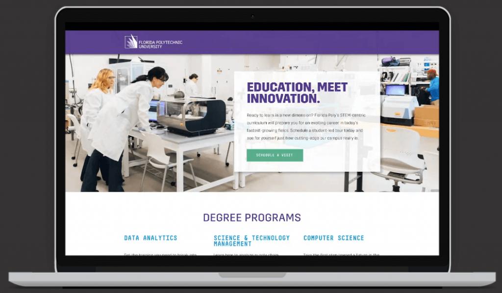 Floria Polytech University Website Design