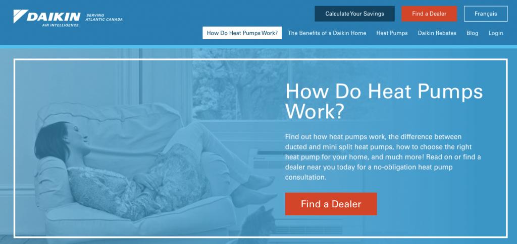 Webpage Design for HVAC Manufacturer Rep CTA