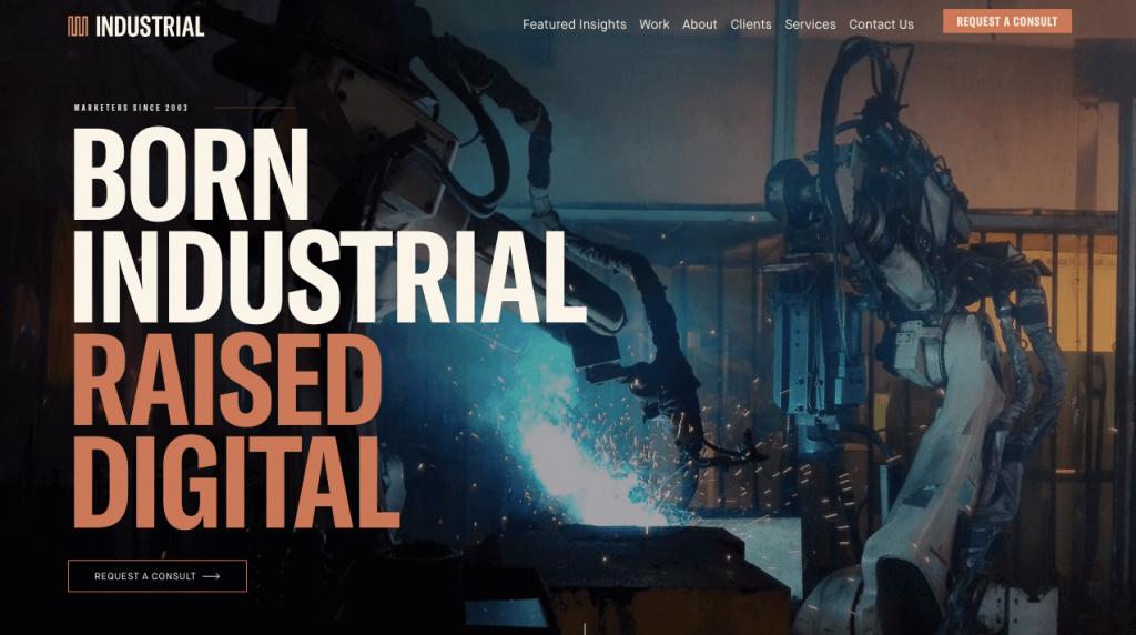 Industrial Marketing Website Design