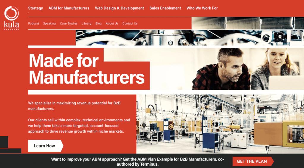 Kula Partners Manufacturer Agency Homepage