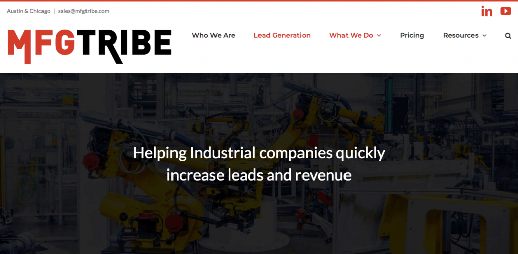 Industrial Lead Generation Services Page
