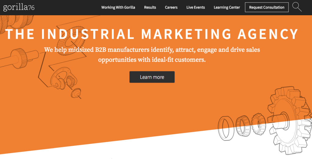 Manufacturer Marketing Agency Homepage Design