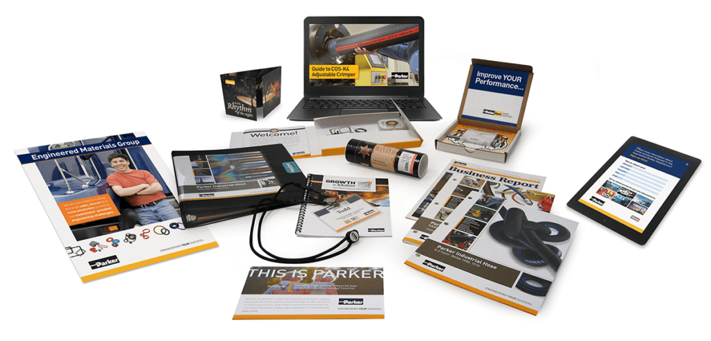 Parker Hannafin Marketing Collateral Examples