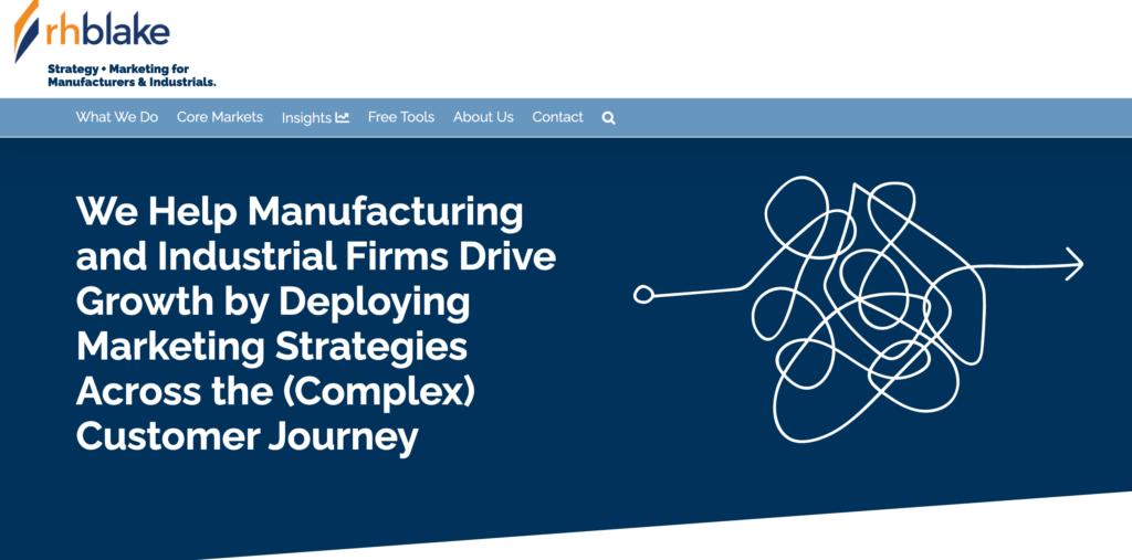 RH Blank Industrial Manufacturing Focused Marketing Agency