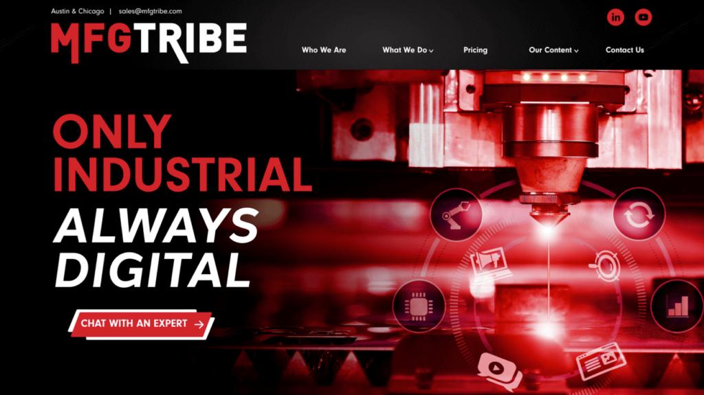 MFG Tribe Website Homepage Design